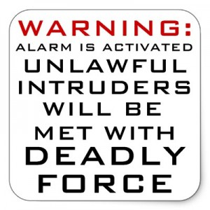 home-intrusion-warning-sign