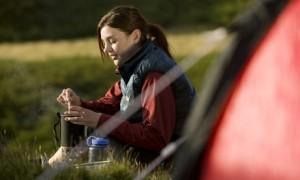 woman-camping