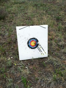 First Grouping at 30 Yards