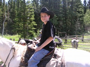 Kyle on a horseback trip in the Flattops Wilderness Area
